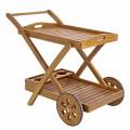 Carrito de madera de acacia de diseño - Roxen