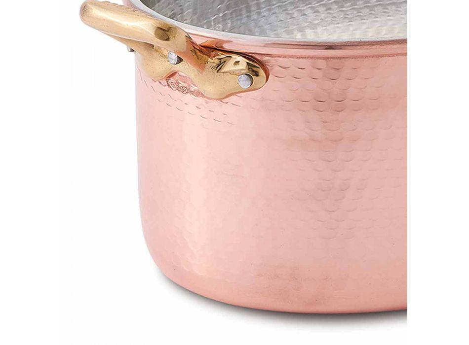 Cacerola Ovalada De Cobre Estañado A Mano Para Horno Y Tapa 27x20 cm - Mariag