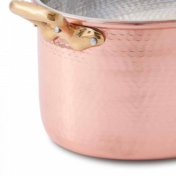 Cazuela Ovalada De Cobre Estañado A Mano Con Tapa 31x22 cm - Mariag