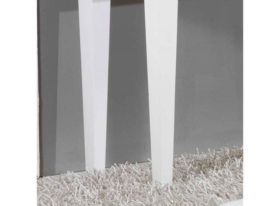 Blanca en el pecho de 4 cajones Etty pan de oro, fabricado en Italia