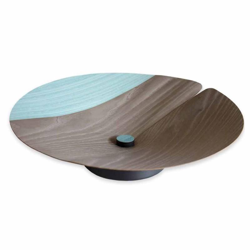Centro de mesa Frutero moderno en madera maciza Made in Italy - Stan