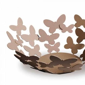 Pieza central de diseño en hierro blanco, beige o marfil Made in Italy - Leiden