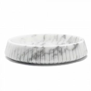 Centro de mesa de mármol blanco de Carrara Made in Italy - Bryan