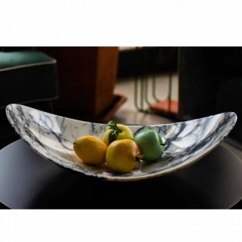 Centro de mesa en mármol Paonazzo de diseño Made in Italy - Libeccio