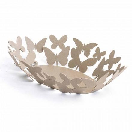 Centro de mesa ovalado moderno en hierro precioso hecho a mano en Italia - Leiden