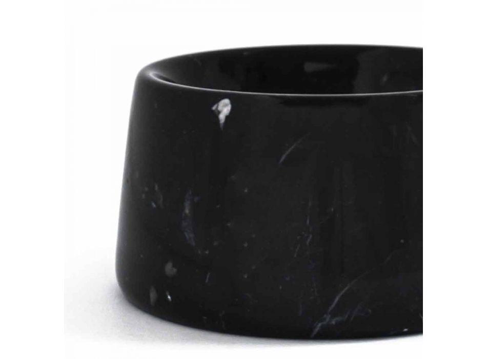 Bol moderno para perros y gatos en mármol blanco o negro hecho en Italia - Catt