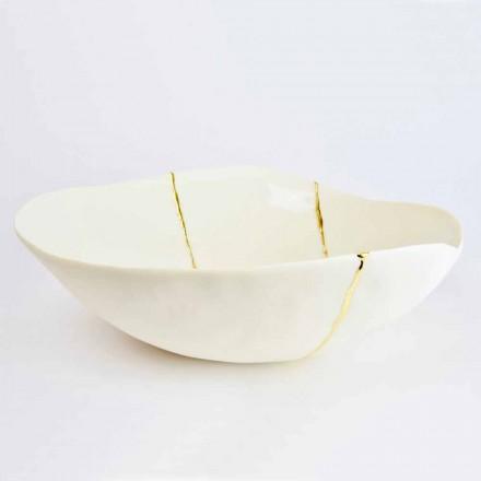 Cuencos en Porcelana Blanca y Pan de Oro Diseño de Lujo Italiano - Cicatroro