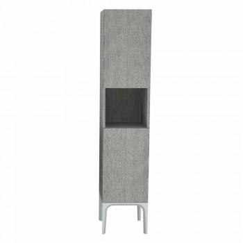 baño columna 2 puertas en Ecolegno Ambra diseño moderno, fabricado en Italia