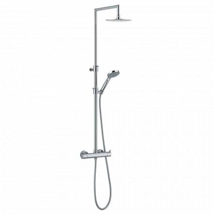 Columna de ducha con desviador integrado en latón cromado Made in Italy - Griso