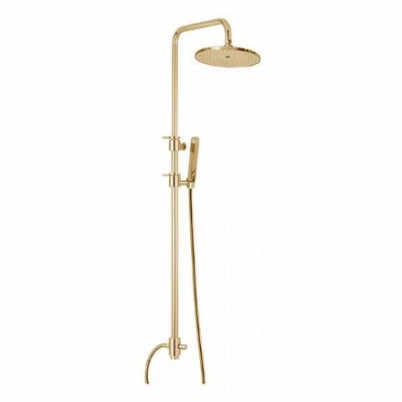Columna de ducha de latón con ducha de abs y cabezal de ducha Made in Italy - Campana