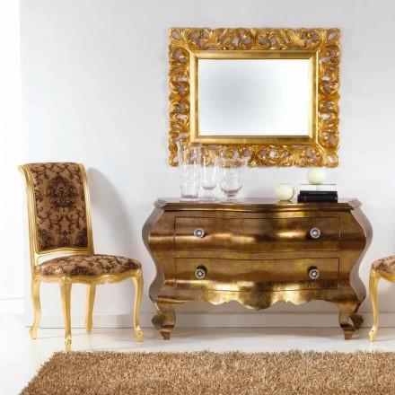 Cajonera de diseño clásico, hecho de madera maciza Bellini