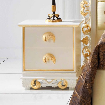 diseñar mesita de noche en madera con 2 cajones Zucchi, hechas en Italia