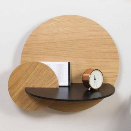 Mesita de noche modular de diseño elegante en madera contrachapada con compartimento oculto - Bigno