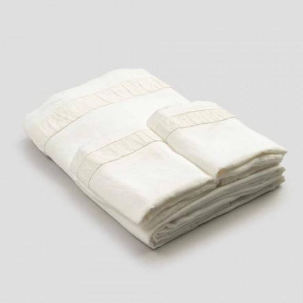 Juego de sábanas doble de lino claro con relieve - Goffro