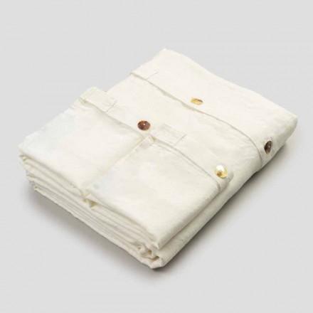 Traje doble de lino pesado y botones de nácar de lujo - Ottobu