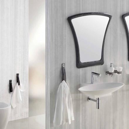 Diseño suspendido de muebles de baño de composición hecho en Italia Aosta.