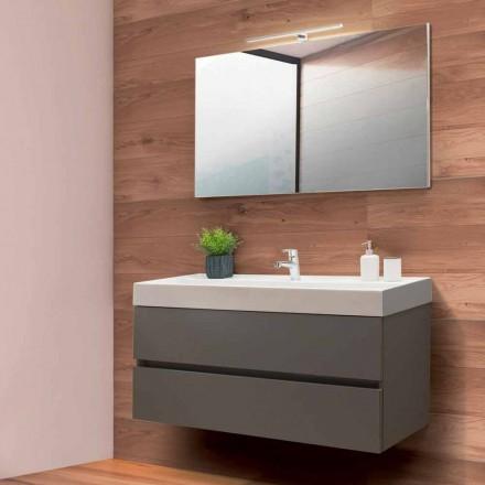 Mueble de baño 120 cm, espejo y lavabo - Becky