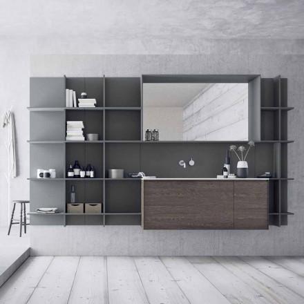 Composición de muebles de baño suspendidos y modernos, muebles de diseño - Callisi12