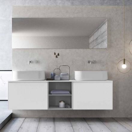 Composición de baño de suspensión de diseño moderno Made in Italy - Callisi14