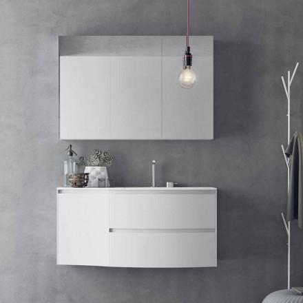 Composición de baño moderna y suspendida Made in Italy Design - Callisi7