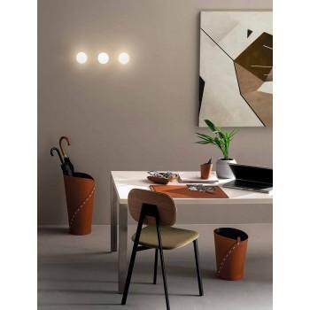 Composición de oficina de diseño moderno en cuero Made in Italy - Giulio