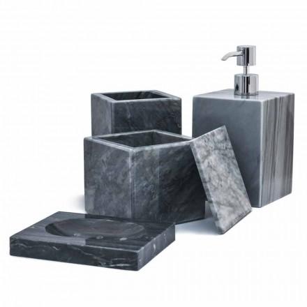 Composición de accesorios de baño de mármol hecho en Italia, 4 piezas - Deano