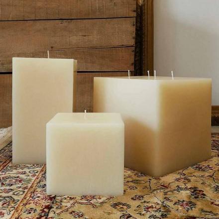 Composición de velas de cera cuadradas Made in Italy, 3 piezas - Mondelle