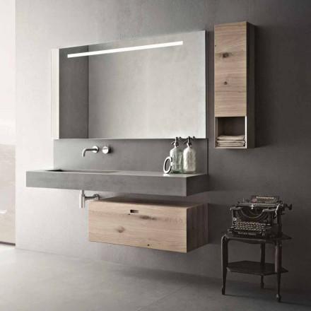 Composición de diseño para baño Mobiliario suspendido moderno Made in Italy - Farart2