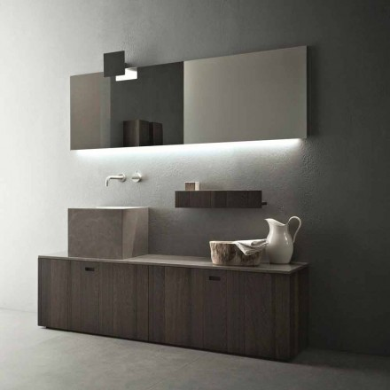Composición de muebles de baño de suelo de diseño moderno - Farart1