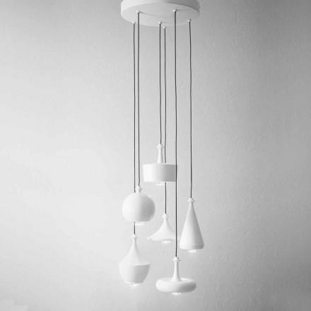 Lámparas de diseño de suspensión de composición - Lustrini Aldo Bernardi