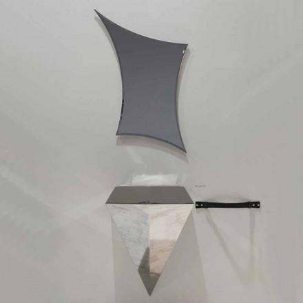 Moderno mueble de baño suspendido composición producida en Italia Venecia.