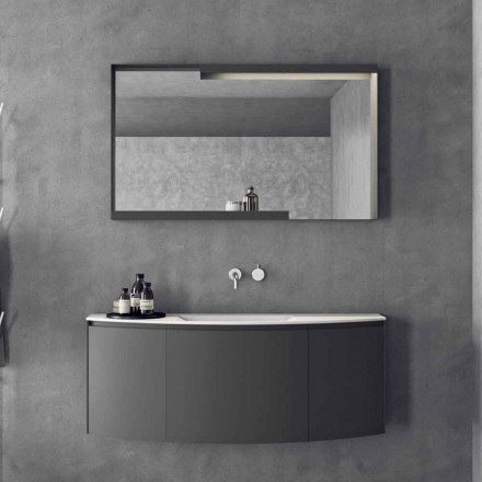 Composición de muebles de baño suspendidos de diseño moderno - Callisi3