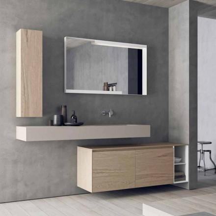Composición de muebles de baño modernos y suspendidos, diseño Made in Italy - Callisi1
