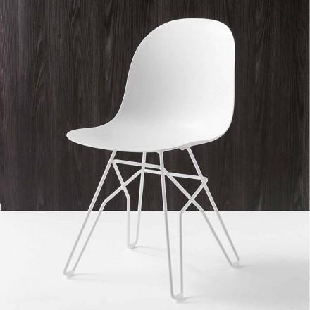 diseño moderno silla Connubia Academia Calligaris fabricado en Italia, 2 piezas