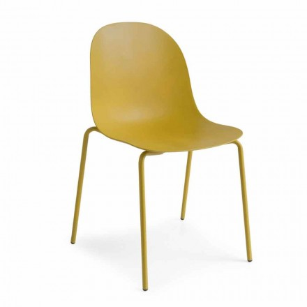 Connubia Academia Calligaris silla de diseño de polipropileno, 2 piezas