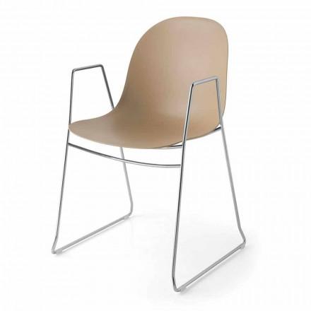 Connubia Academia Calligaris silla moderna en polipropileno, 2 piezas