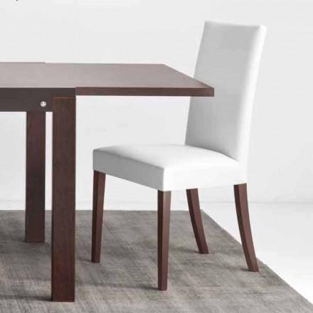 Connubia silla de Copenhague Calligaris en cuero y madera de imitación, 2 piezas