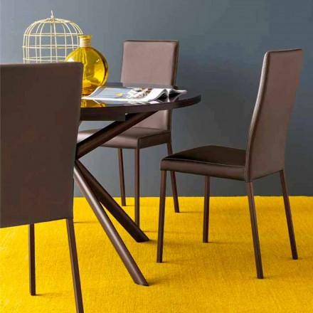 Connubia Calligaris Garda silla moderna de tela y metal, 2 piezas