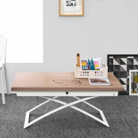 mesa extensible de madera Connubia Calligaris Magic-J en una madera moderna