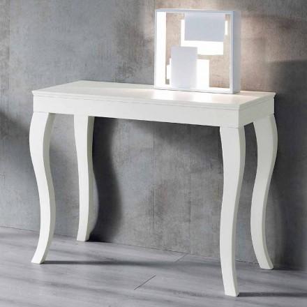 Consola extensible en madera de fresno lacada gris gris - Carpintero