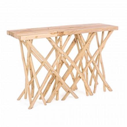 Consola de entrada en madera de teca natural de elegante diseño moderno - Bilva
