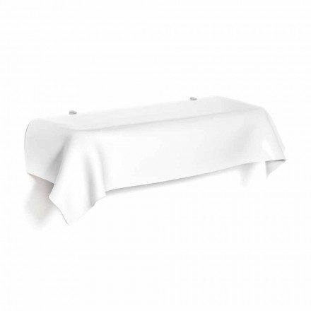 Consola de diseño moderno en plexiglás blanco drapeado Wish