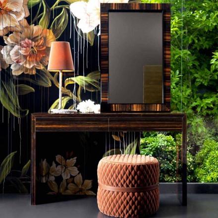 Grilli Zarafa moderna consola de madera de ébano hecha en Italia