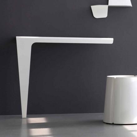 Consola de diseño minimalista moderno en metal de colores Made in Italy - Benjamin