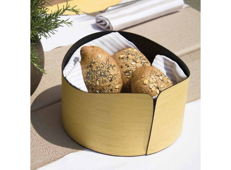 Caja Circular Moderna en Madera Real Made in Italy - Stan