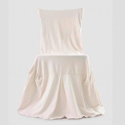 Funda de silla elegante para salón con respaldo en algodón de colores - Filippa