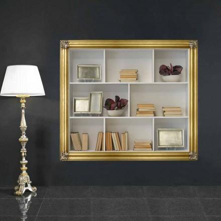 Librería de pared de madera de geloton producida en Italia Giulio