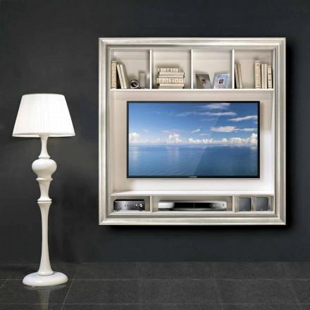 Mueble de TV de plasma Mirko de pared, en madera, producido en Italia
