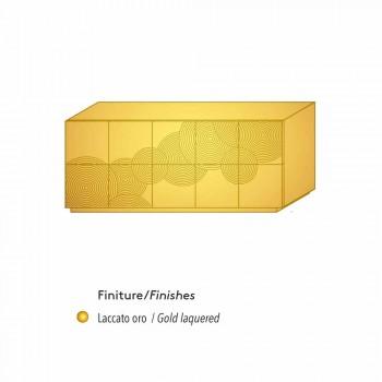 Aparador con pizarra de 10 a priori, de diseño moderno, blanco, negro o de oro
