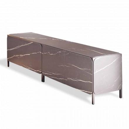 Aparador bajo en cerámica y metal Made in Italy - Aparador con estructura Bonaldo K